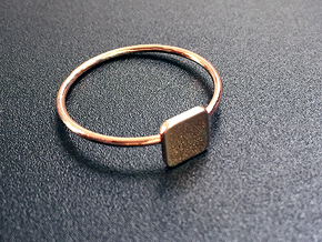 Square Ring in 14k Rose Gold Plated Brass