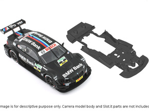 S02-ST2 Chassis for Carrera BMW M3 DTM STD/STD in Black Strong & Flexible