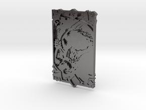 Darksiders Tarot Card - V - Death in Polished Nickel Steel