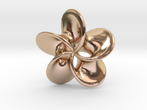 "Scherk minimal surface ""Rose"" in 14k Rose Gold Plated Brass"