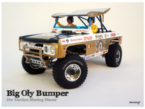Simensays Big Oly style bumper in Polished Bronzed Silver Steel