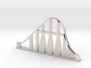 Millennium Force Roller Coaster in Rhodium Plated Brass