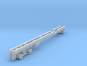 1/64th Long oilfield bed truck frame in Smooth Fine Detail Plastic