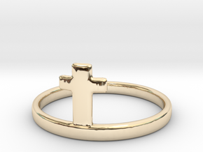 Crossring (approx. size 11) in 14K Yellow Gold