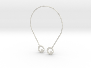 Branded Torc Style 1 in White Natural Versatile Plastic