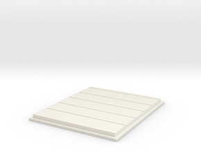 Rail Dock Door in White Natural Versatile Plastic