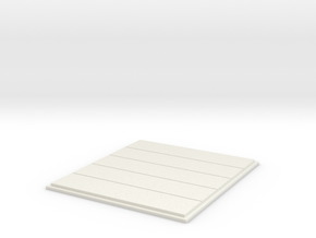 Cargo Roll Door; No Windows in White Natural Versatile Plastic