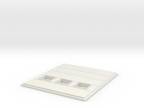 Cargo Roll Door; Windows in White Natural Versatile Plastic