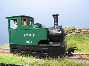 009 Irish Tram Engine  in Smooth Fine Detail Plastic
