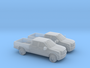 1/160 2X 2005 Ford F-Series Crew Cab in Smooth Fine Detail Plastic