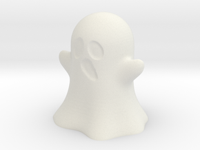 Ghost in White Natural Versatile Plastic