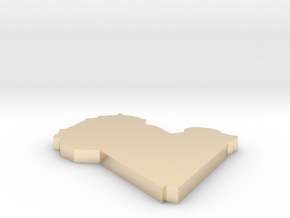 Libya - [Plain3D] in 14K Gold