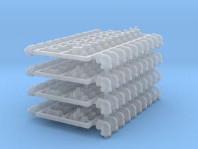 """1:48 4"""" Pipe Fittings in Smoothest Fine Detail Plastic"""