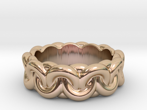 Chain Of Love 30 - Italian Size 30 in 14k Rose Gold