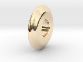 Close Encounters - UFO Spacer in 14k Gold Plated Brass