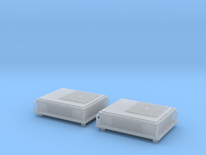Rooftop-Mounted Air Conditioner Units in Smoothest Fine Detail Plastic