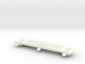 Clod Grille Gmc in White Processed Versatile Plastic