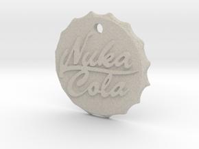 Nuka Cola Cap Pendant in Sandstone
