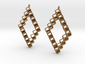 "Cube Earrings 1  ""Points of View"" collection in Polished Brass"