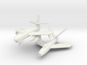 Republic XF-91 Thunderceptor Pair 6mm 1/285 in White Strong & Flexible
