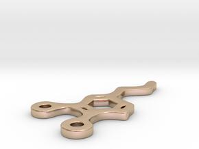 Dopamine Pendant in 14k Rose Gold Plated Brass