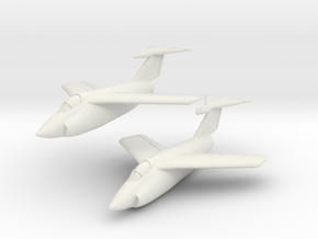 Grumman XF10F Jaguar (2 airplanes In Flight) 1/285 in White Natural Versatile Plastic