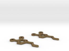 Dopamine Earrings in Polished Bronze