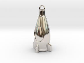Nuka Cola Bottle keychain from Fallout 4 in Rhodium Plated Brass