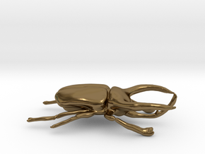 Atlas Beetle figurine/brooch in Polished Bronze