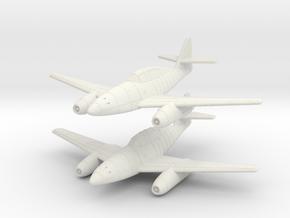 1/200 Messerschmitt Me-262B (x2) in White Natural Versatile Plastic