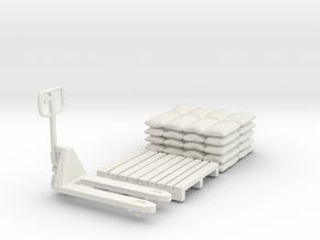PalletJack 01. Scale 1:24 in White Natural Versatile Plastic