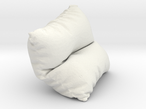 Mini Cushion in White Natural Versatile Plastic