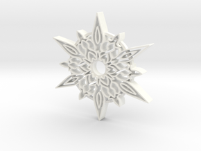 Christmas Star Ornament in White Processed Versatile Plastic