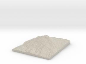 Model of Lewis Glacier in Sandstone