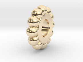Mr Tambourine Man - Ball Spacer in 14k Gold Plated Brass