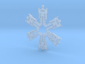 Snowflake Optimus Prime Ornament  in Smooth Fine Detail Plastic