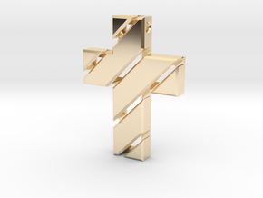 Cross  in 14K Yellow Gold