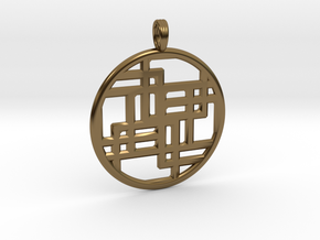 SIXTH DIMENSION CUBED in Polished Bronze