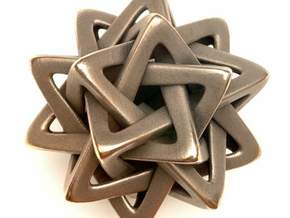 Five Tetrahedra, large in White Strong & Flexible