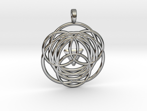 MYSTICAL LOTUS in Fine Detail Polished Silver