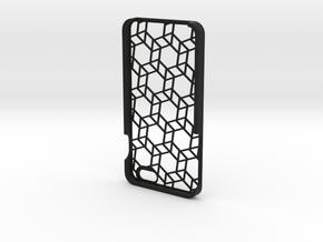 iPhone 6 Plus geometric case in Black Natural Versatile Plastic