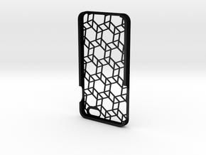 iPhone 6 Plus geometric case in Matte Black Steel