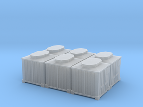 2mm Scale Type L Container X6 in Smooth Fine Detail Plastic
