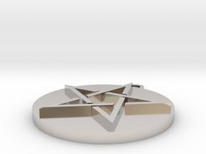 Pentagram Pendant in Platinum