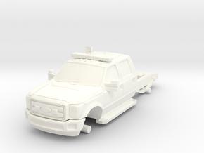 1/64 F-550 Chasis for FDNY ATVR and Generic Light  in White Strong & Flexible Polished