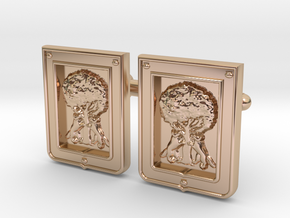 Borbolla Cufflinks in 14k Rose Gold Plated Brass