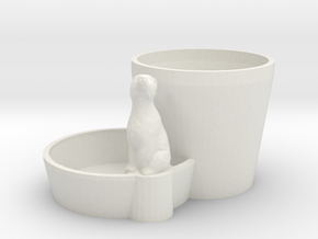 Plant pot with animal in White Strong & Flexible