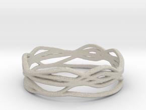 Ring Design 01 Ring Size 9 in Natural Sandstone
