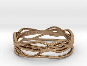Ring Design 01 Ring Size 9 in Polished Brass