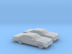 1/120 2X 1975 Ford Ltd Coupe in Smooth Fine Detail Plastic